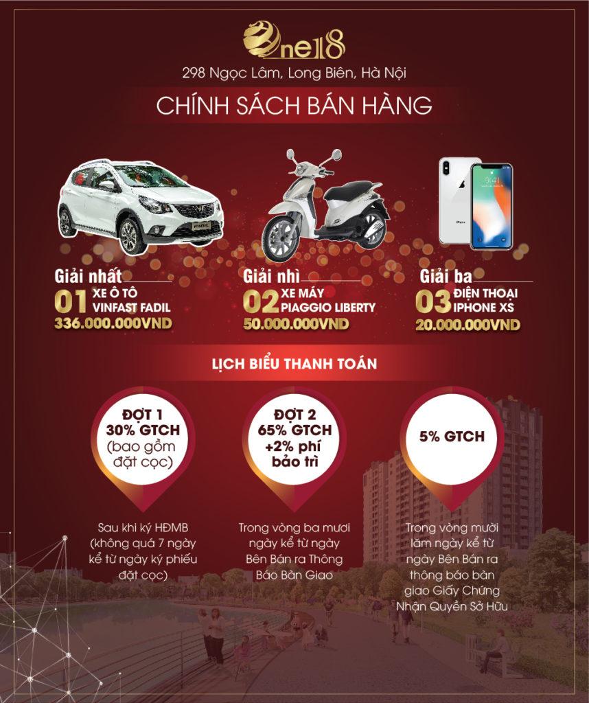 Chính sách bán hàng đặc biệt Chung Cư One18 Ngọc Lâm