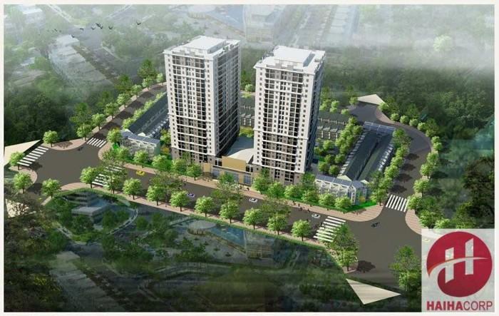 Phối cảnh tổng thể dự án bao gồm cả khu thấp tầng