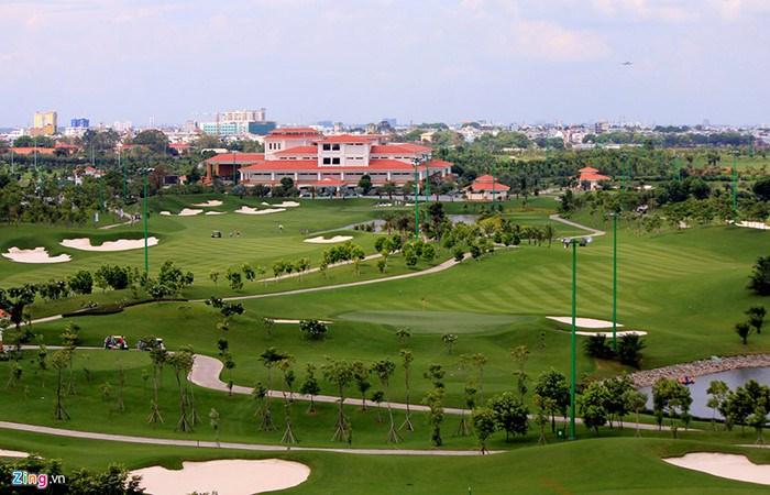 View sân Gofl Long Biên rất đẹp