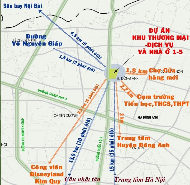 Kết nối giao thông dự án Happy Land Đông Anh