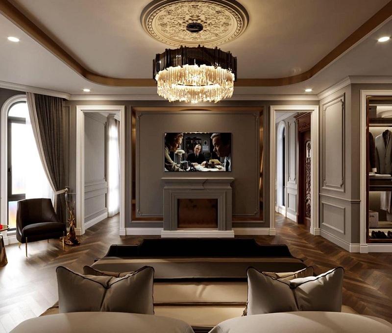 phối cảnh 2 nội thất biệt thự Elegant Thạch Bàn