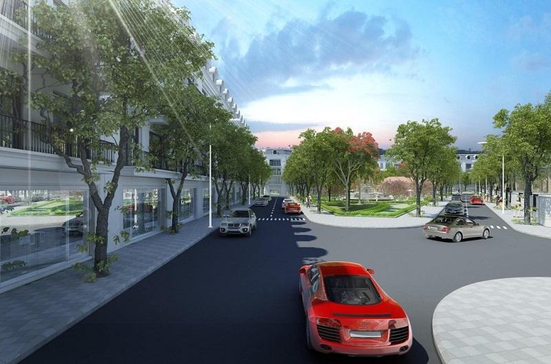 phối cảnh đường nội khu dự án Dragon Park Văn Giang