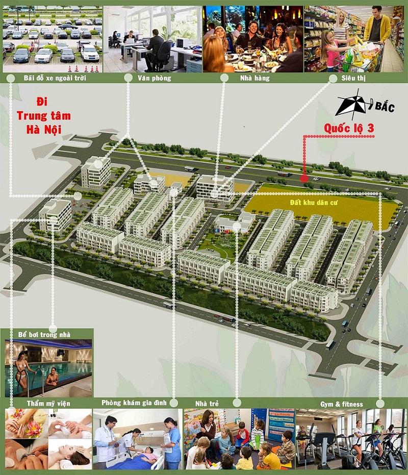 Tiện ích hoàn hảo dự án Happy Land Đông Anh