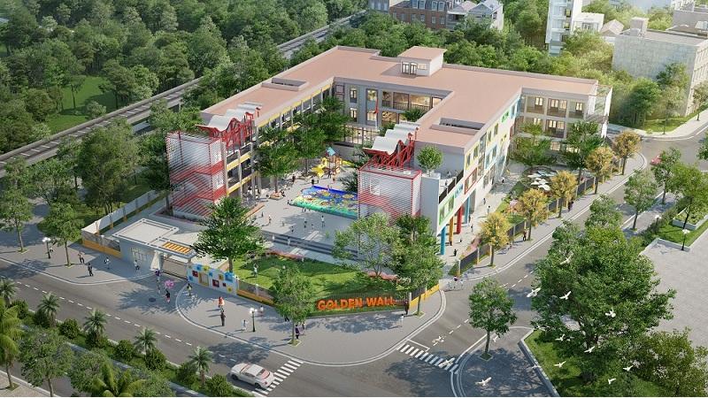 trường học trong dự án liền kề Green Little Town Cổ Bi - Gia Lâm