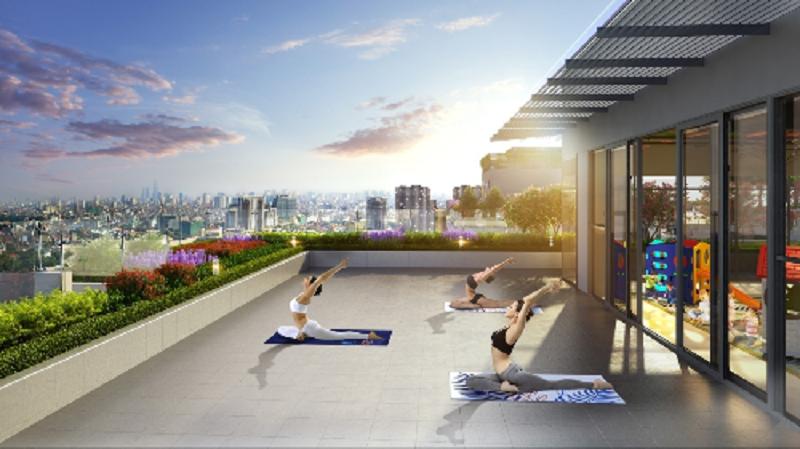 khu tập yoga chung cư shunshine phúc đồng