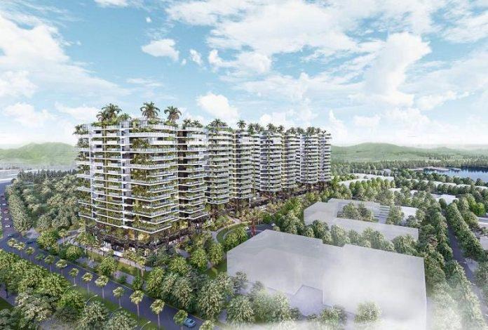 Phối cảnh tổng thể dự án Sunshine Green Iconic Long Biên