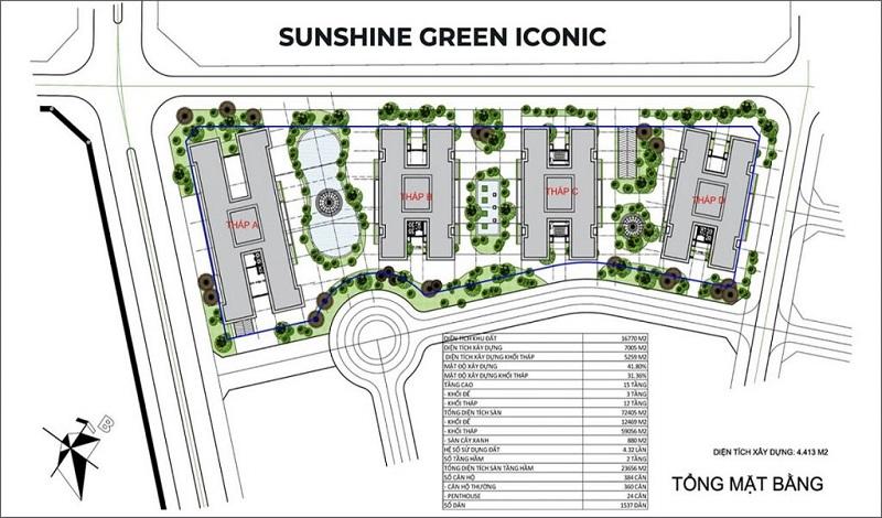 tổng mặt bằng chung cư shunshine