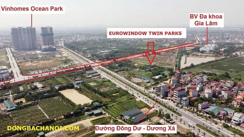 flycam thực tế Eurowindow twin park gia lâm