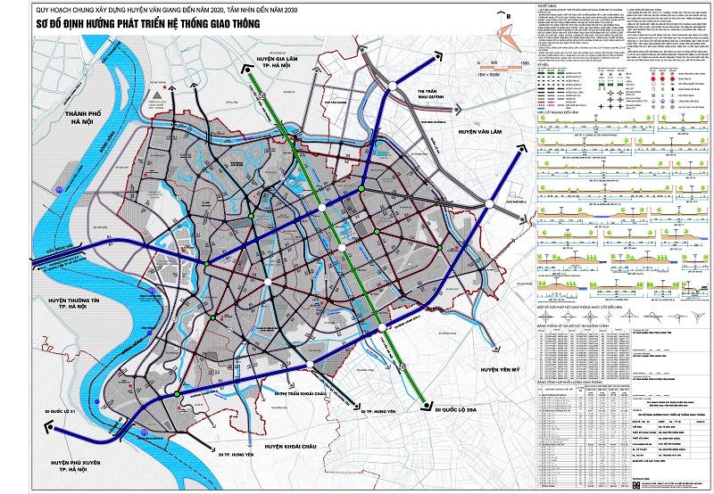 hạ tầng giao thông huyện Văn Giang