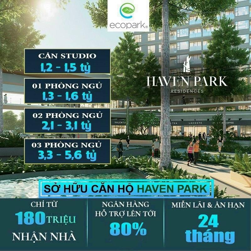 chính sách bán hàng chung cư Haven Park