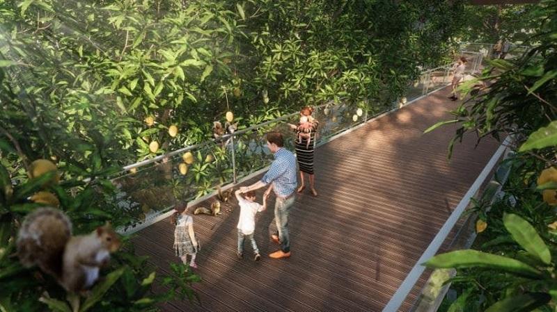 phối cảnh cầu kính đi bộ dự án Haven Park
