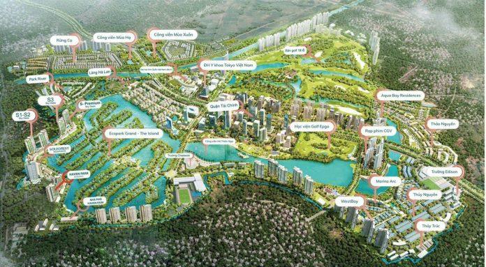 phối cảnh tổng thể dự án Ecopark