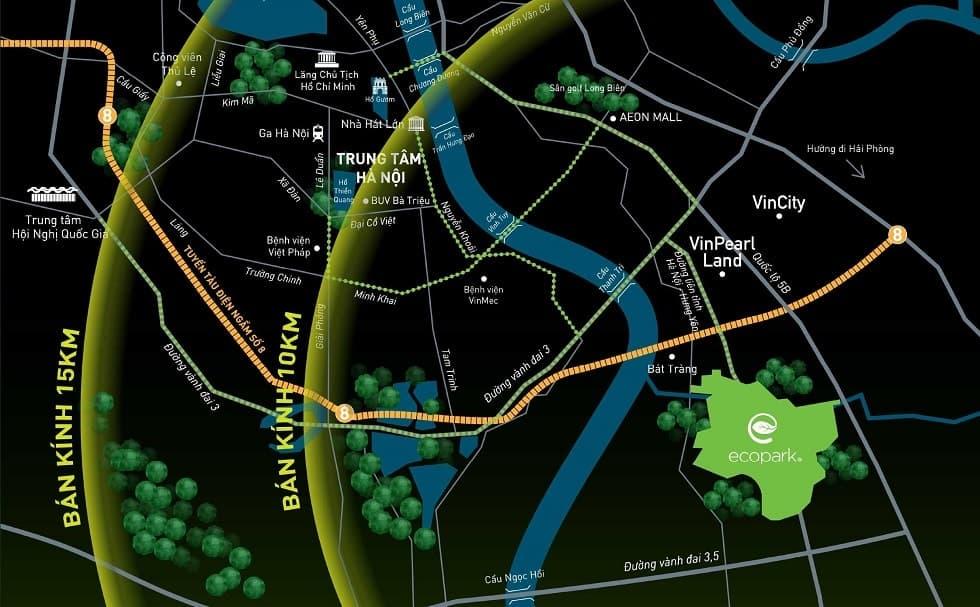 Vị trí khu đô thị Ecopark