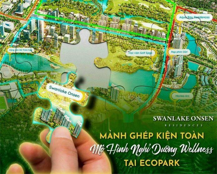 Swanlake onsen mảnh ghép kiện toàn mô hình nghỉ dưỡng Wellneff tại Ecopark