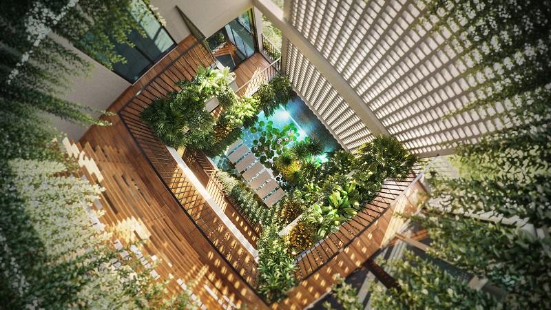 phối cảnh 4 thiết kế bên trong nhà phố vườn haven park
