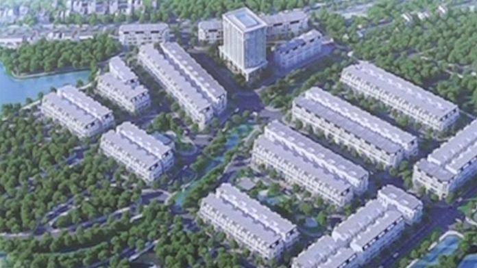 Phối cảnh khu nhà ở phố mới Văn Giang