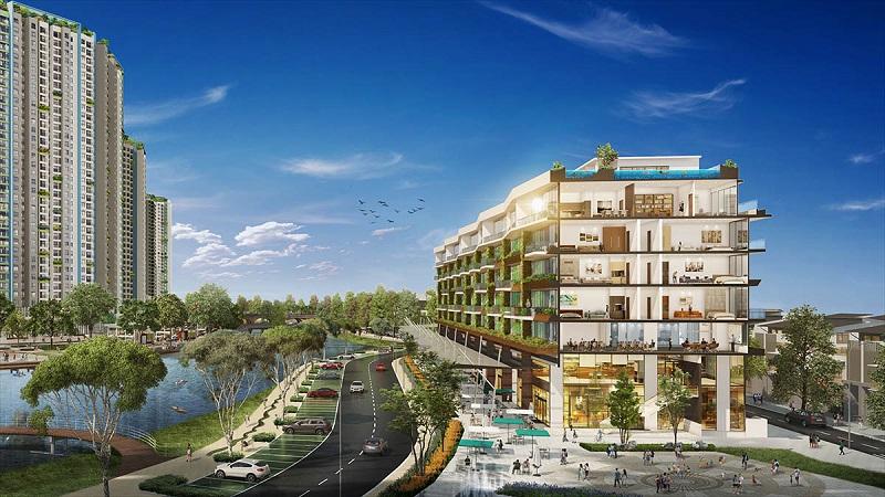 phối cảnh nhà phố Marina Arc Ecopark