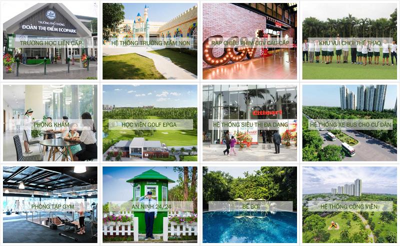 tiện ích khu đô thị xanh Ecopark
