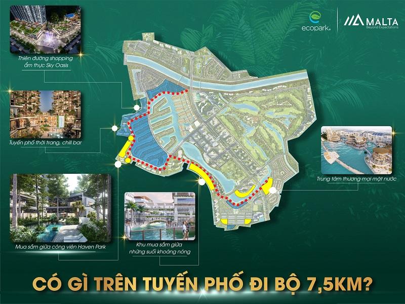 tuyến phố đi bộ 7,5km