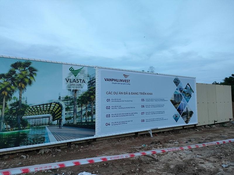 Tiến độ dự án Vlasta Văn Phú Invest - Nam Sầm Sơn - Thanh Hóa