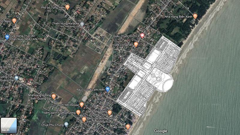 Vị trí dự án Vlasta Sầm Sơn - Thanh Hóa