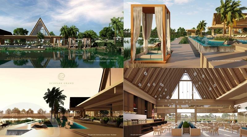 Club house 6 sao tại biệt thự đảo Ecopark Grand