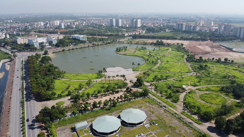 Công viên hồ điều hòa Kim Quan gần dự án Nguyễn cao Luyện - Vạn Hạnh