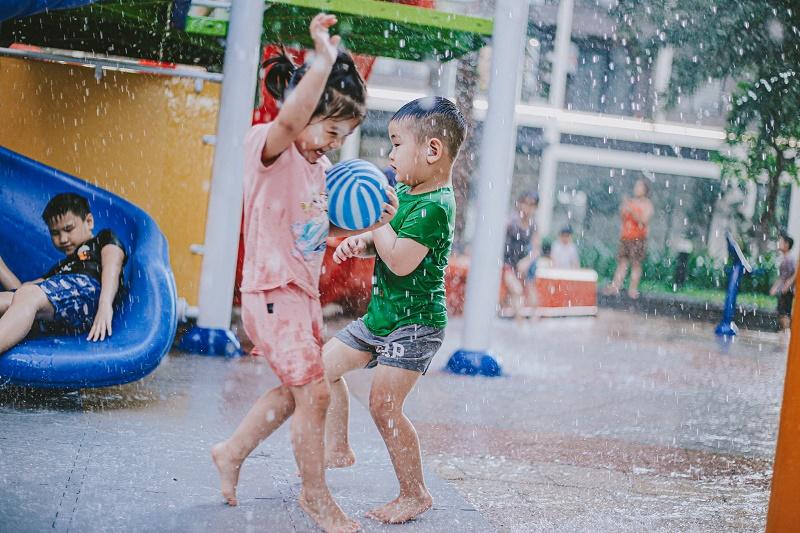 Hình ảnh thực tế khu vui chơi nội khu tại Vinhomes Ocean Park - Đa Tốn - Gia Lâm