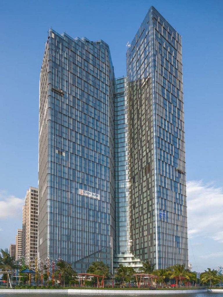 Kiến trúc hình chữ V tòa nhà Techno Park - Vinhomes Ocean Park