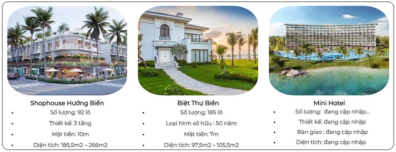 Loại hình sản phẩm tại dự án Vlasta Sầm Sơn - Thanh Hóa
