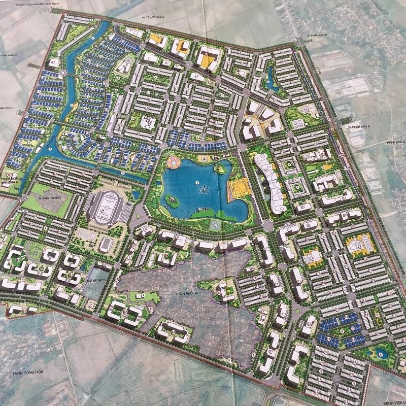 Mặt bằng tổng thể dự án Hòa Phát Forestar - Phố Nối - Hưng Yên