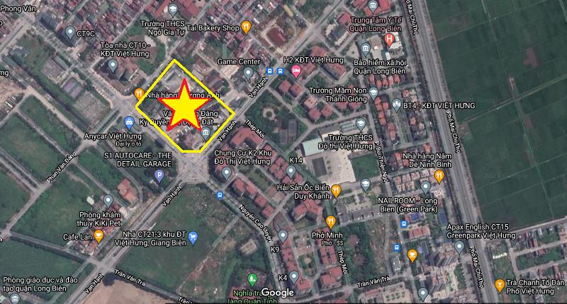 Vị trí dự án Shophouse Nguyễn Cao Luyện - Vạn Hạnh - Việt Hưng