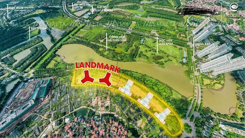 Vị trí dự án chung cư Landmark Ecopark