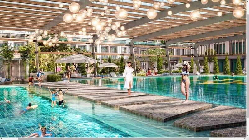 Bể bơi tại dự án TNR Bỉm Sơn - Thanh Hóa
