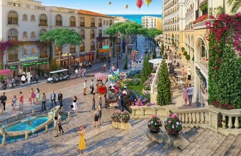 Phối cảnh phong Tiểu khu Địa Trung Hải tại khu đô thị Vinhomes Dream City Văn Giang