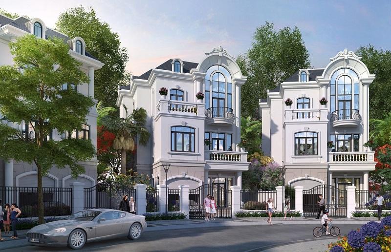Phối cảnh Phong cách Monaco tiểu khu Biệt Thự Đảo