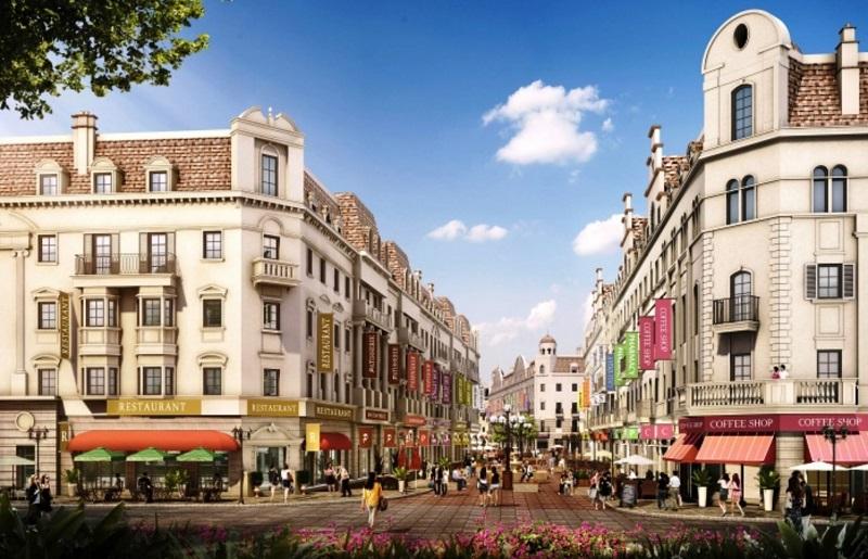 Phối cảnh tiểu khu Monaco Pháp tại khu đô thị Vinhomes Dream City Văn Giang