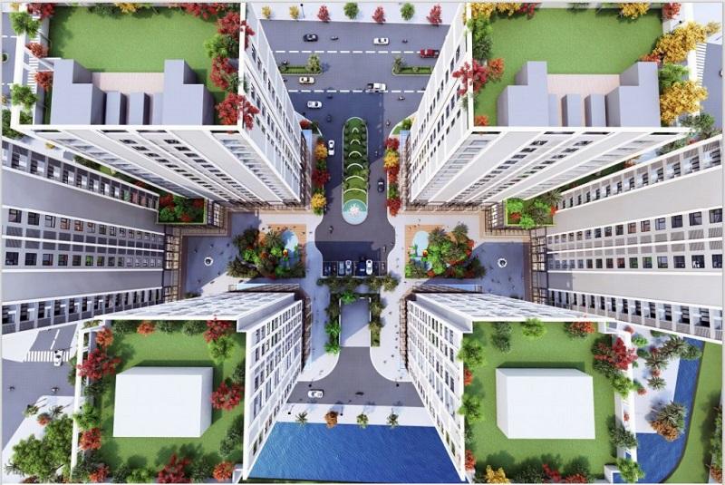 Phối cảnh 3 Chung cư Eco Smart city Long Biên