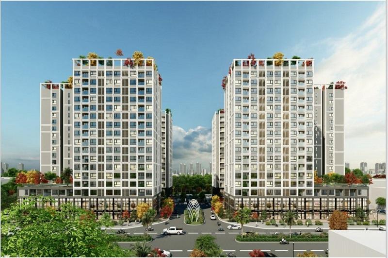 Phối cảnh 2 Chung cư Eco Smart city Long Biên