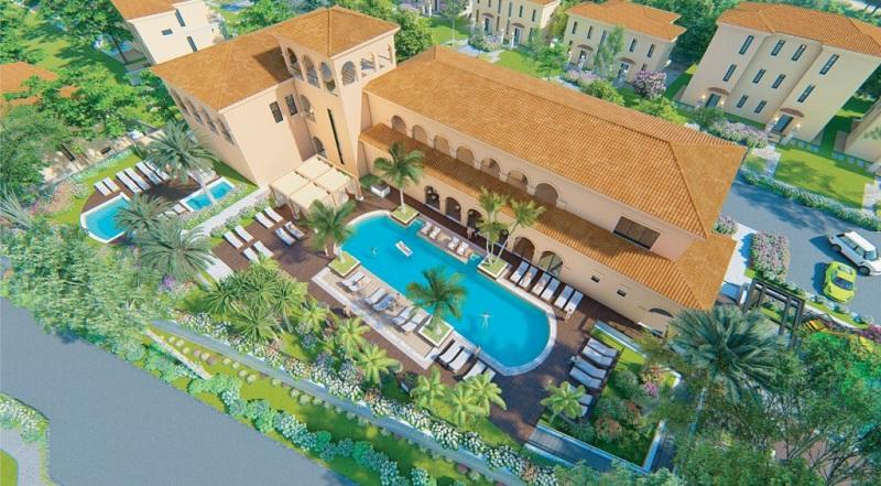Bể bơi 4 mùa ngoài trời tại biệt thự Wyndham Sky Lake Resort & Villas Chương Mỹ