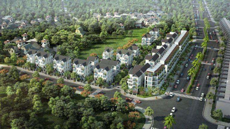 Phối cảnh biệt thự Liền kề tại Vinhomes Dream city Văn Giang