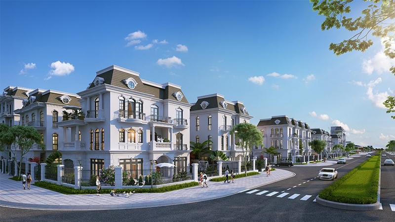 Phối cảnh biệt thự song lập tại Vinhomes Dream city Văn Giang