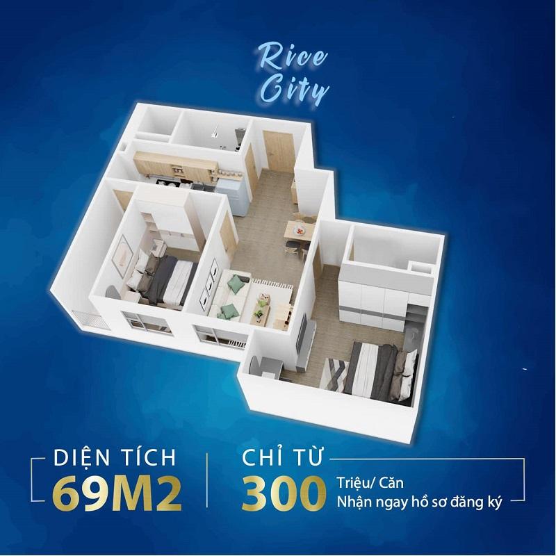 Căn hộ 2 PN Him Lam Thượng Thanh
