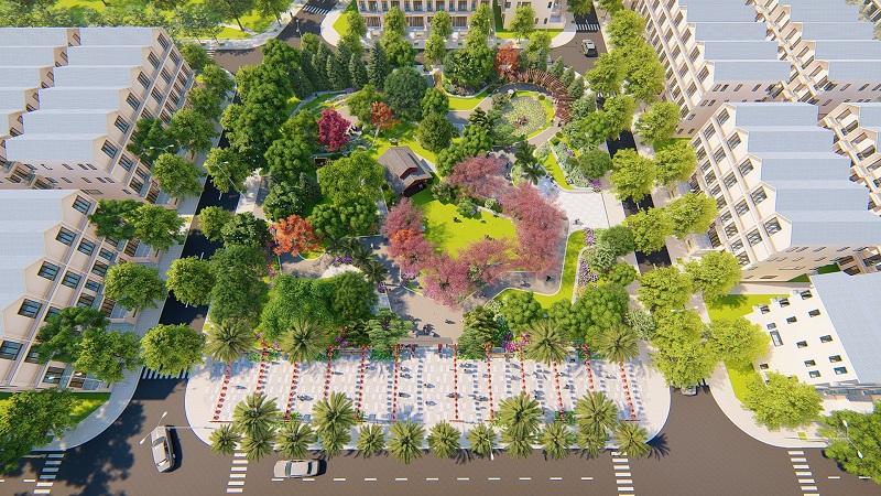 Khuôn viên cảnh quan Khu đô thị mới Mỹ Trung - Nam Cường - Nam Định