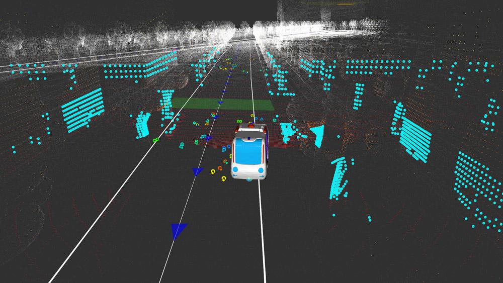 Công nghệ cảm biến Lidar xây dựng bản đồ 3D chi tiết giúp xe phân tích và đánh giá trước mọi rủi ro