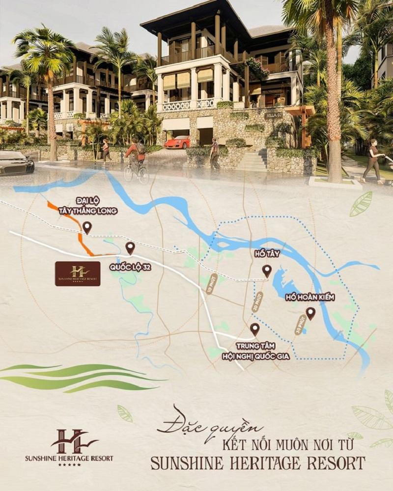 Kết nối giao thông Sunshine Heritage Resort Hà Nội