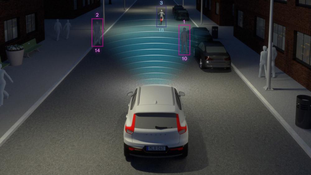 Hệ thống cảm biến thông minh 4 phía giúp xe nhận diện mọi chuyển động trong phạm vi xe.