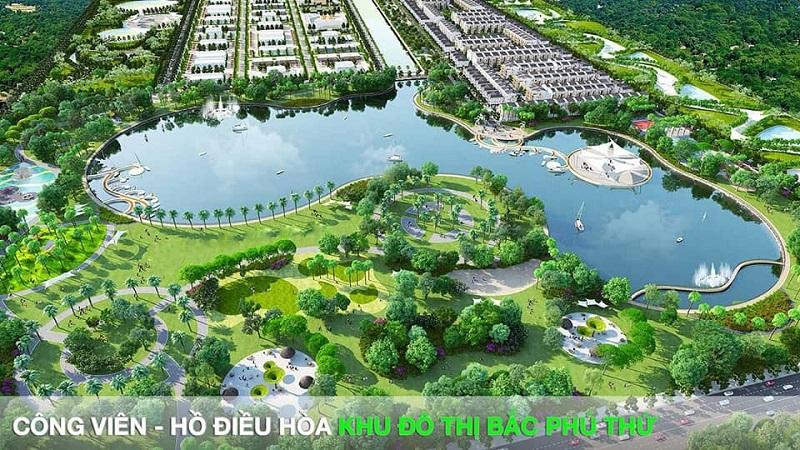 Công viên hồ điều hoà Phú Thư Wonder Song Hải Dương