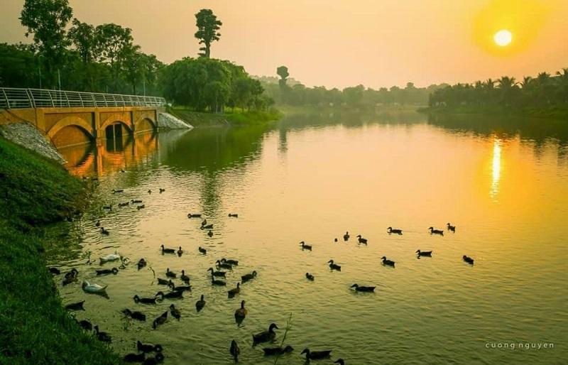 1 góc Hồ thiên nga tại Khu đô thị Ecopark