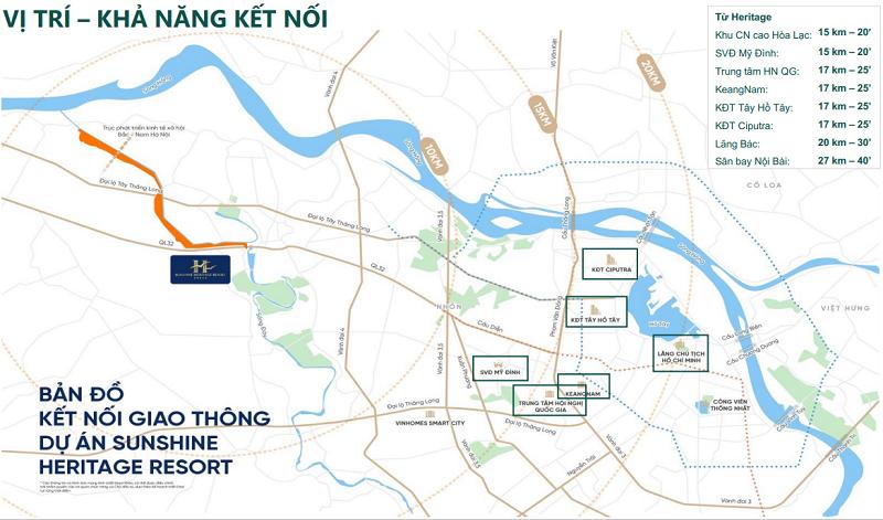 vị trí dự án Sunshine Heritage Resort Hà Nội